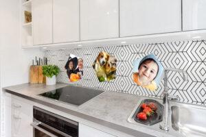 panel szklany do kuchni ze zdjęciem