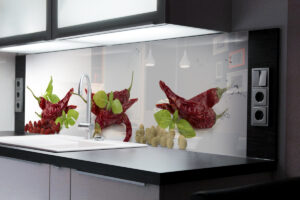 panel szklany kuchnia papryka