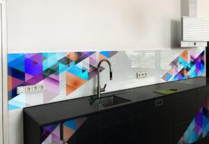 panel szklany kuchnia nowoczesny