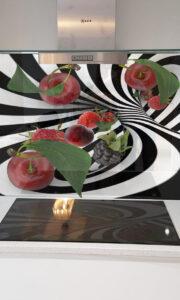 panel szklany abstrakcja owoce