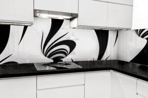 panel szklany abstrakcja 3d