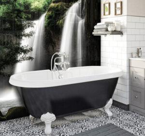 panel szklany do łazienki wodospad