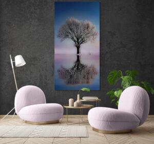 obraz na szkle drzewo