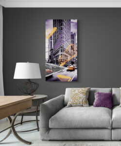 obraz szklany New York