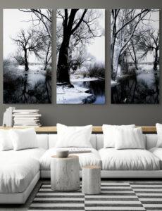 obrazy na szkle drzewa