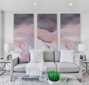 obrazy szklany rozowy marmur