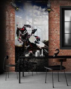 panel szklany loft motocross