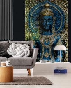 panel szklany salon buddha