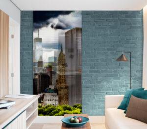 panel szklany salon manhattan kolor